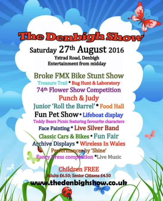 2016 Denbigh Show Flyer